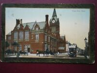 POSTCARD SUSSEX HOVE - TOWN HALL C1910