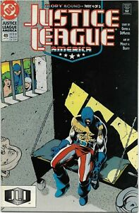 Justice League America (1989) #49 - VF/NM - General Glory - Direct Edition
