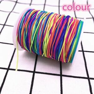 High Elastic Round & Flat Spool Sewing Band Cord DIY Jewelry Making Accessories
