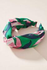 "$38 NWT ""ANTHROPOLOGIE"" BOTANICAL GARDENS Green, Pink & Blue HEADBAND"