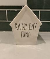 "NEW Rae Dunn ""RAINY DAY FUND"" Bank Birdhouse by Magenta 6.5 x 5"