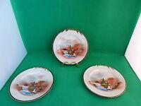 Soho China Painted Japanese Plates x 3