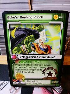 DBZ CCG DRAGON BALL Z GOKU'S DASHING PUNCH P11 COMIC-CON 2001 GOLD STAMPED CARD