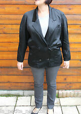 luxurious jacket brilliant black CHRISTIAN DIOR COORDINATED size 42 MINT