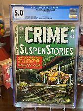 E.C. Comics, Crime SuspenStories Stories #5, 1951 CGC 5.0