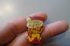pin s 2 eme Bourse aux PINS  A NANCY dept 54 1991 avec le chat en jaune cat