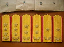 87's series China PLA Army General Hard Shoulder Boards,3 Pair,Set,( A )