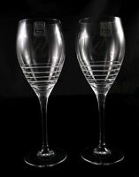 Pair of Stunning Lead Crystal Royal Scot Large Wine or Water glasses
