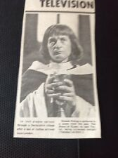 67-3 Ephemera 1974 Picture Actor Ronald Pickup Roses Of Eyam Play For Today