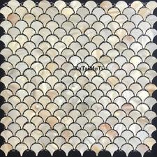 11pcs fish scale fan shell mosaic mother of pearl wall kitchen backspalsh tile