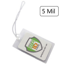 """5 Pack - 5 Mil Laminating Luggage Tag Slot Pouches w/ 6"""" Loops -  2-1/2 x 4-1/4"""""""