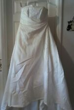 HOUSE OF WU Private Collection 8824 Ivory w/Beading A-line Strapless Size 16