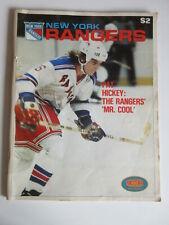 New York Rangers vs Pittsburgh Penguins Oct 21, 1979 PROGRAM