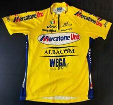 Maillot cycliste team Mercatone Uno Bianchi cyclisme vintage jersey Asics XXL