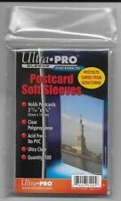 "100 ULTRA`PRO POST CARD SOFT SLEEVES 3 11/16""X5 3/4"" ACID FREE ULTRA CLEAR"
