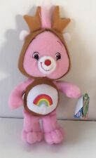 "Care Bears Holiday Friends Cheer Bear Plush Reindeer 11"" 2007"