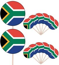 South Africa Flags Party Food Cup Cakes Picks Sticks Decorations Toppers