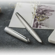 New Hero 100 14K Gold Matte Silver Steel Fountain Pen Classic Authentic Quality
