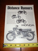 1966 HONDA 90 SPORT 65 TOURING 160 305 - ORIGINAL AD