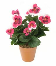 Artificial Bedding Plug Plant Highly Realistic Fake Flowers Garden Patio Decor
