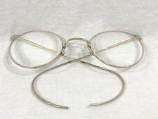 Vintage Artcraft USA Round Rx Wrap Around Eyeglasses Gold Frame