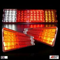 2x 24V LED REAR TAIL LIGHTS LAMPS 6 FUNCTION TRAILER LORRY TRUCK RECOVERY 70 LED