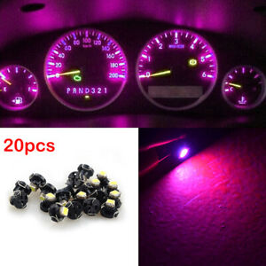 20X T3 LED Neo Car Wedge Instrument Dashboard Gauge Cluster Bulbs Lights Pink