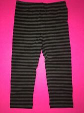 NWT BABY GAP GIRLS STRIPED LEGGINGS 18-24 MONTHS BLACK GREY BLEECKER STREET