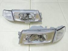 1998 99 00 2001 Mitsubishi Lancer Evo 5 6 Chrome Headlights & Clear Corner light