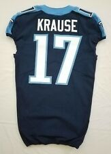 #17 Jonathan Krause Authentic Nike Tennessee Titans Game Issued Jersey