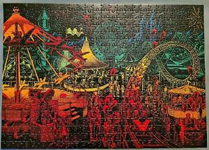LAGOON GAMES 500 PIECE JIGSAW PUZZLE - 'FAIRGROUND ATTRACTION' 3D PERSPECTIVE