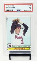 1979 Topps HOF Angels Strike Out King NOLAN RYAN Baseball Card PSA 5 EXCELLENT