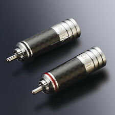 4Pcs Rhodium Plated Audio Speaker Cable Spade Y Plug Connector