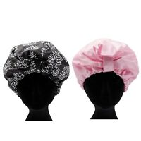 NEW Dilly's Collections Waterproof Shower Cap Bathroom Hair Head Wear Bath Hat