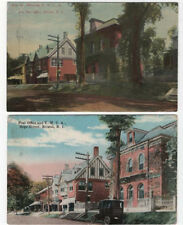 (2) Diff. Bristol, Rhode Island, Views of The Post Office & Y.M.C.A., 1912, 1919