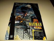 1995 Batman Chronicles DC Comics Promo Poster Promotional 22x14 Heroes Villains
