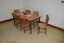 A&L Furniture Co. Amish-Made Hickory 7-Piece Dining Sets - Table with Chairs