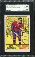 1967 Topps #067 Ralph Backstrom SGC 92 NM/MT+ Cert No. 1289633-030