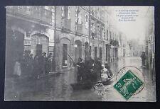 CPA Carte postale NANTES inondé 1910 Rue Marmontel BOUCHERIE HIPPIQUE chevaline