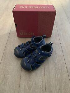 KEEN SEACAMP CNX Jungen Sandale Schuh - BLAU - Gr. 29 - im Karton
