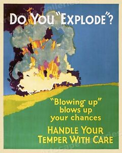 Do You Explode? - 1920s Mather Business Motivational Poster - 24x30