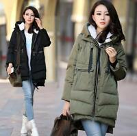 Women Winter Branded Warm Hooded Jacket Down Coat Slim Parka Outwear Clothing
