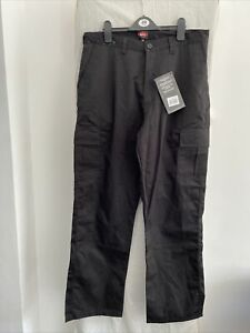LEE COOPER Black Cargo Work Trousers Size UK 34 R
