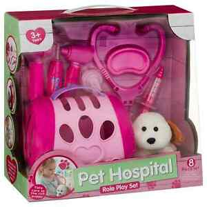 8Pc Pet Hospital Role Play Set Kids Pretend Play Toy Ideal Xmas Gift For Kids