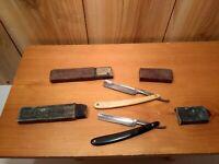 2 Vintage straight razors The Celebrated 1XL & Hugo Koller 220 Bulls Eye w/box