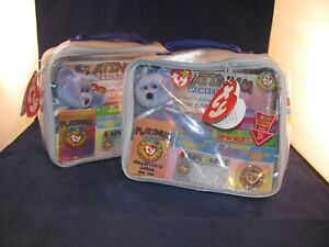 TY BEANIE BABIES OFFICIAL CLUB PLATINUM MEMBERSHIP CASE SET OF 2