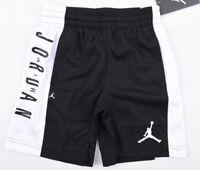 NIKE AIR JORDAN Boys' Basketball Shorts, Dri-Fit, Black/White, sizes 4 5 years