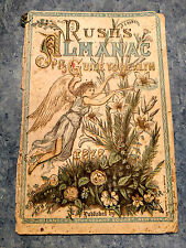 1878 RUSH'S ALMANAC GUIDE TO HEALTH HAND COLORED?