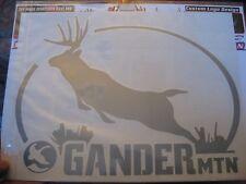 "Gander Mountain Silver Met. Hunting Decal 11"" x 9"" Whitetail Deer Emblem # Hi-14"