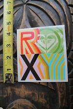ROXY Surfboards Girls Heart Neon Square Logo Quiksilver Vintage Surfing STICKER